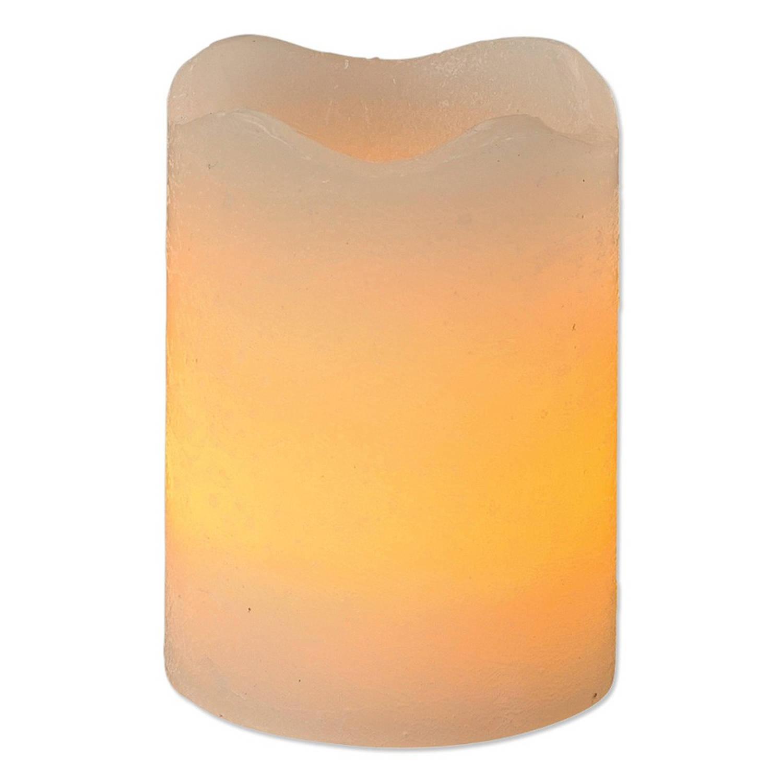 Kaars met LED-lamp 7,5x14 cm | Blokker