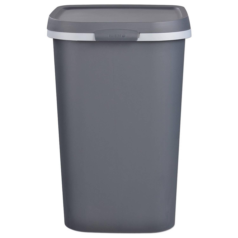Prullenbak 50 L Aanbieding.Allibert Mistral Afvalbak 50 Liter Antraciet