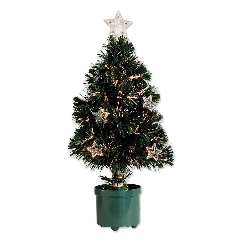 Kerstboom met 8 sterren en fiberverlichting | Blokker