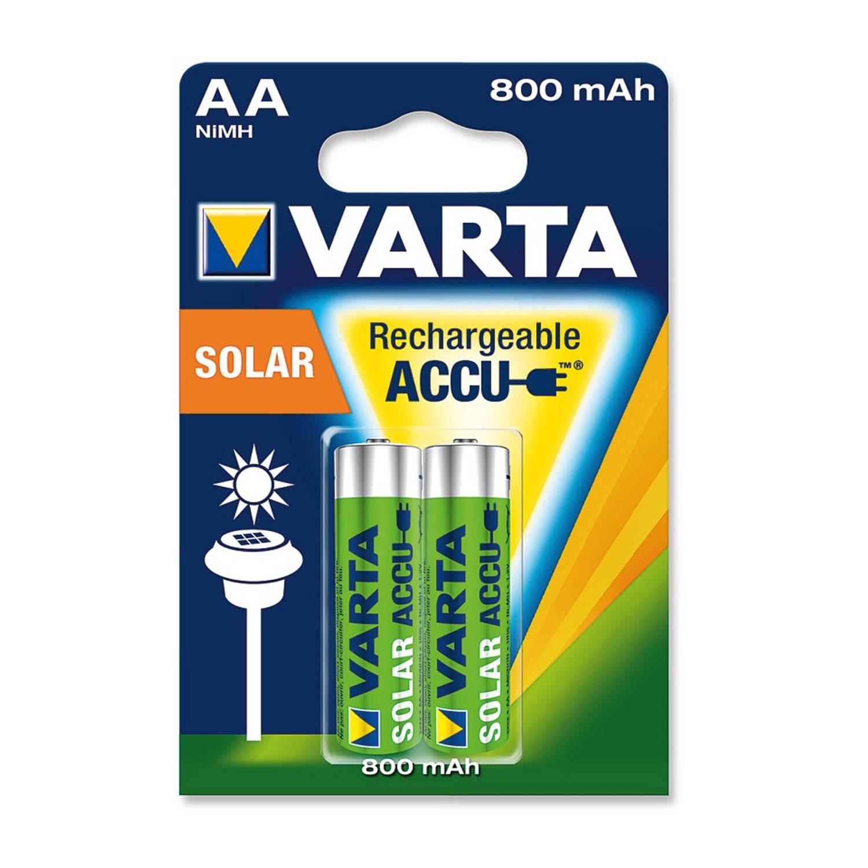 Varta oplaadbare batterijen - Solar HR06 AA 800 mAh | Blokker