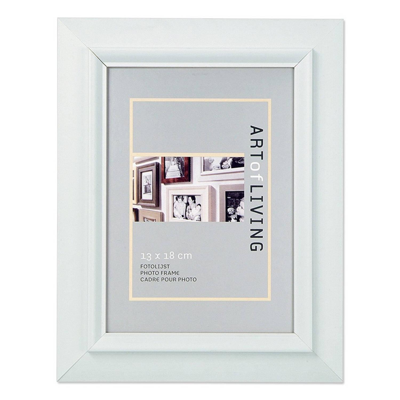 Witte Houten Fotolijst.Fotolijst Wit Hout 13 X 18 Cm Wit Blokker