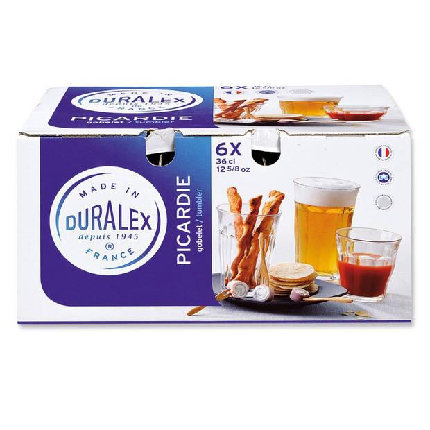Duralex Picardie longdrinkglazen - 36 cl - 6 stuks