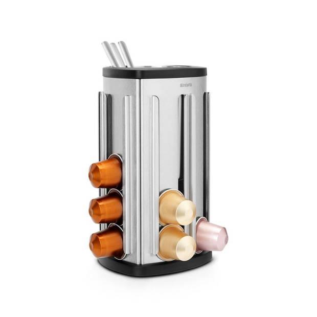 Brabantia koffiecapsulehouder met uitneembaar bakje - Matt Steel