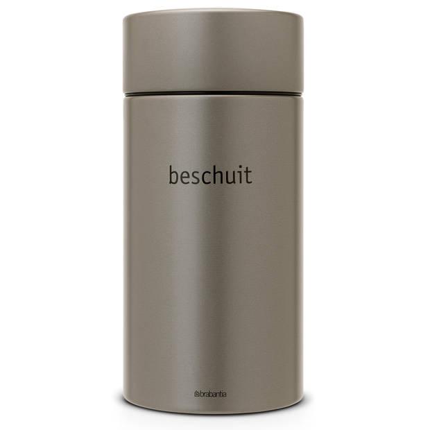 Brabantia beschuitbus met lift 1,7 liter - Platinum
