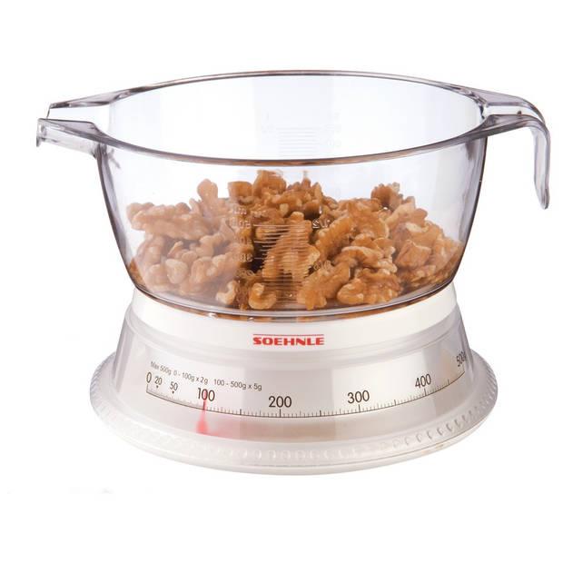Soehnle keukenweegschaal Vario analoog – wit