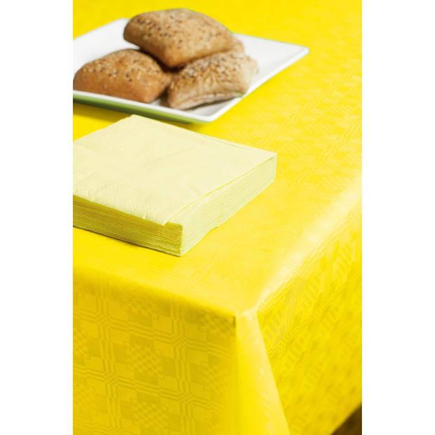 Damastrollen, 1,2x8 meter, kleur geel / lime