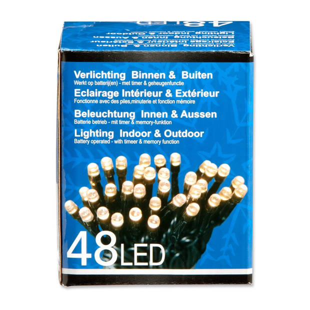 LED-verlichting met timer - 48 lampjes