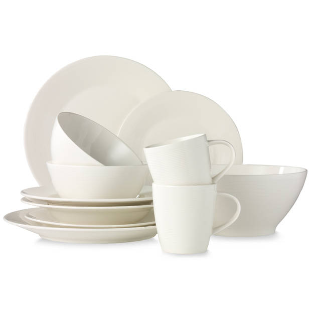 New York ontbijtbord - Ø 21,5 cm - wit