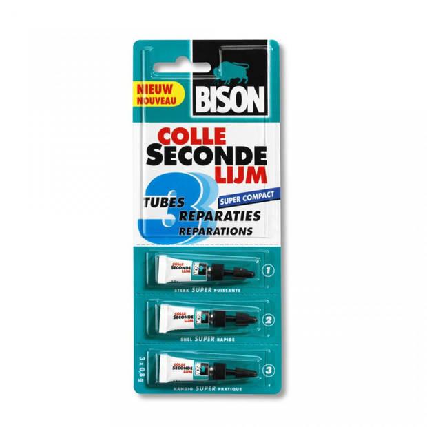 Bison secondelijm - 3 tubes
