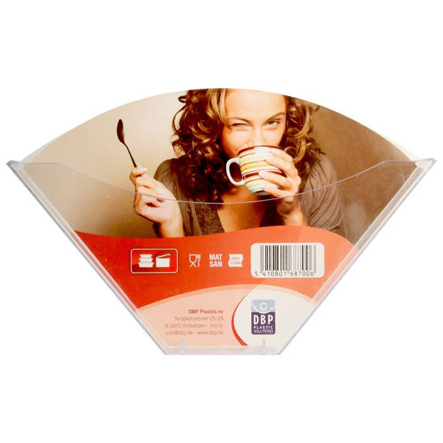 DBP koffiefilterzakjeshouder transparant plastic