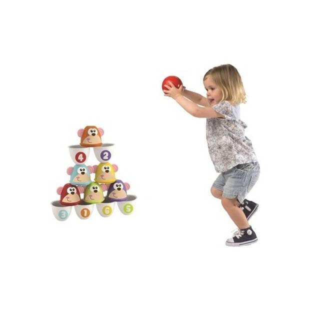 Chicco bowlingset Monkey Strike 7-delig