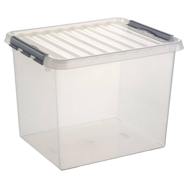 stapelbare q line opbergbox 36 liter blokker. Black Bedroom Furniture Sets. Home Design Ideas