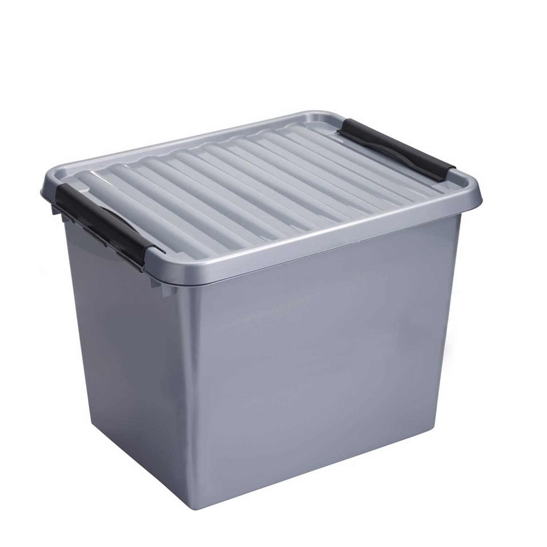 Sunware Q-line opbergbox - 52 l - grijs/zwart
