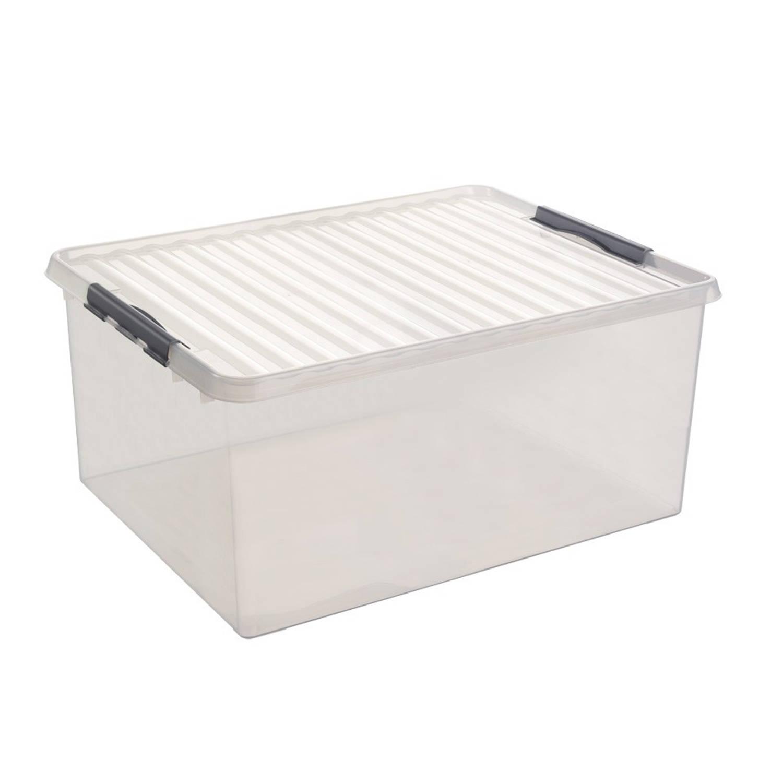 Stapelbare q line opbergbox 120 liter blokker for Action opbergbox