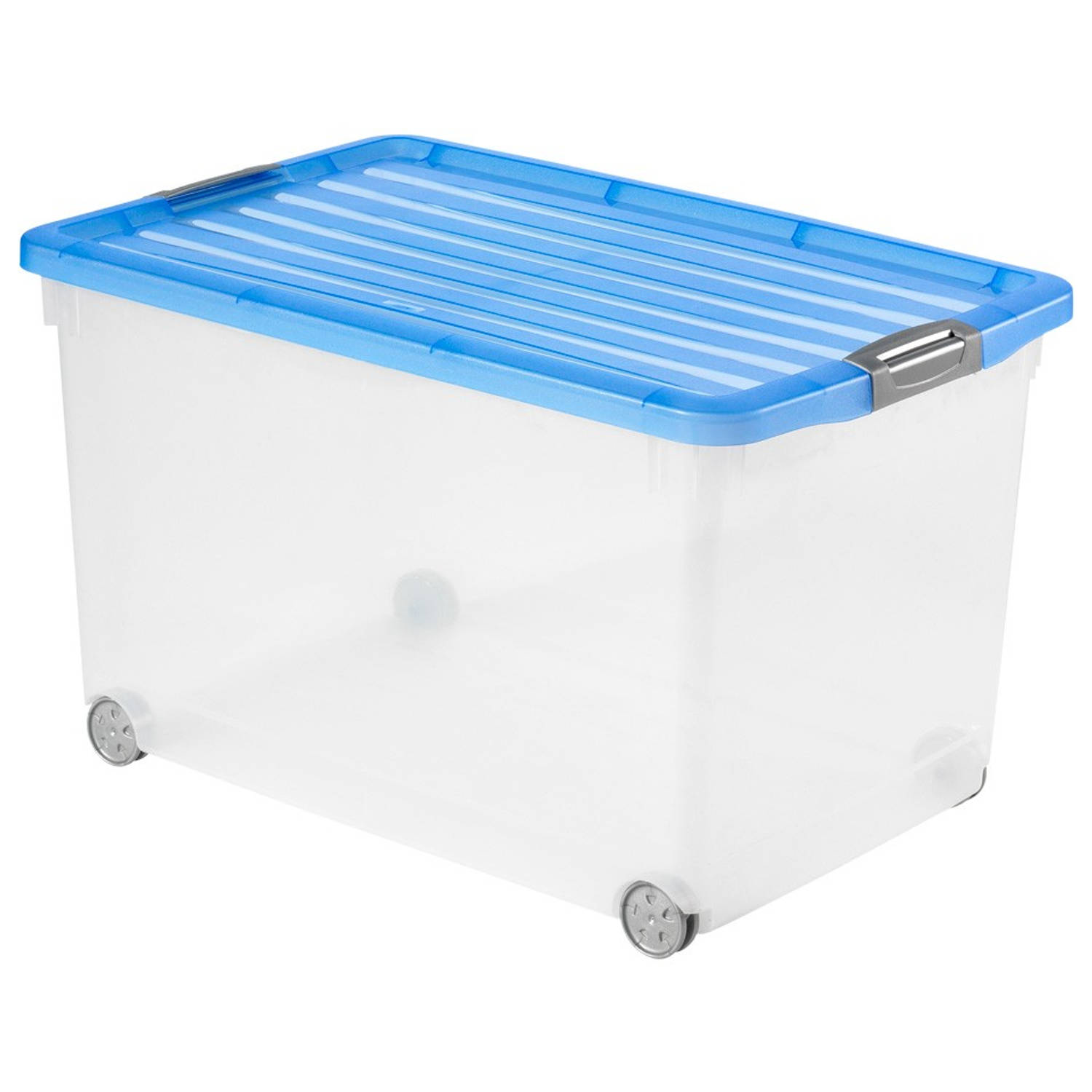 Curver Click'n Fit opbergbox 60 liter - blauw