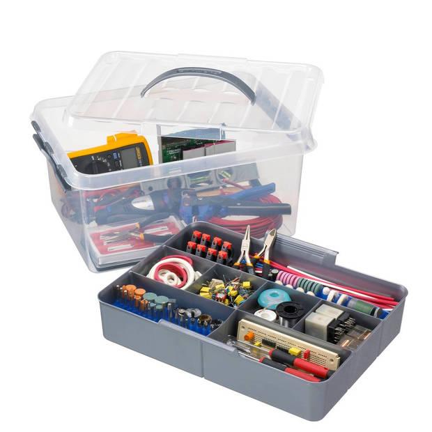 Sunware Q-line multibox 15 liter + inzetbakje met vakverdeling