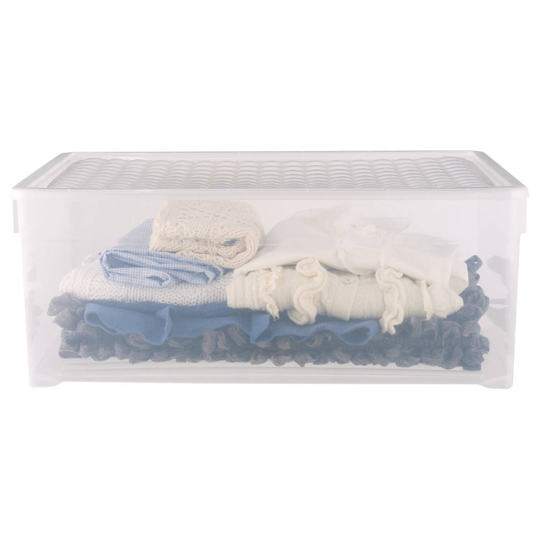 Curver textielbox 45 liter - transparant
