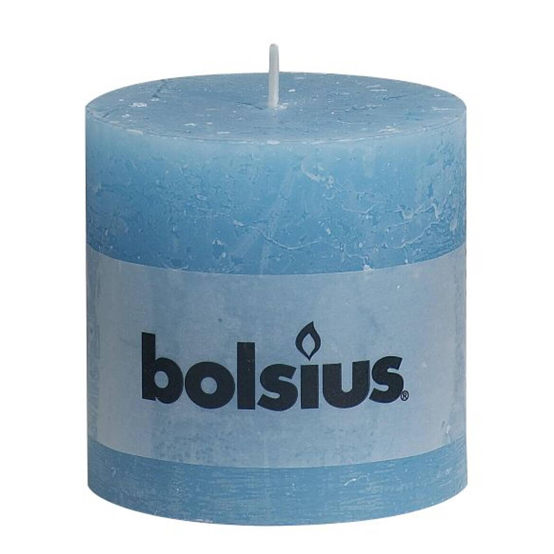 Bolsius rustiek stompkaars 100/100 aqua Rustiekkaarsen