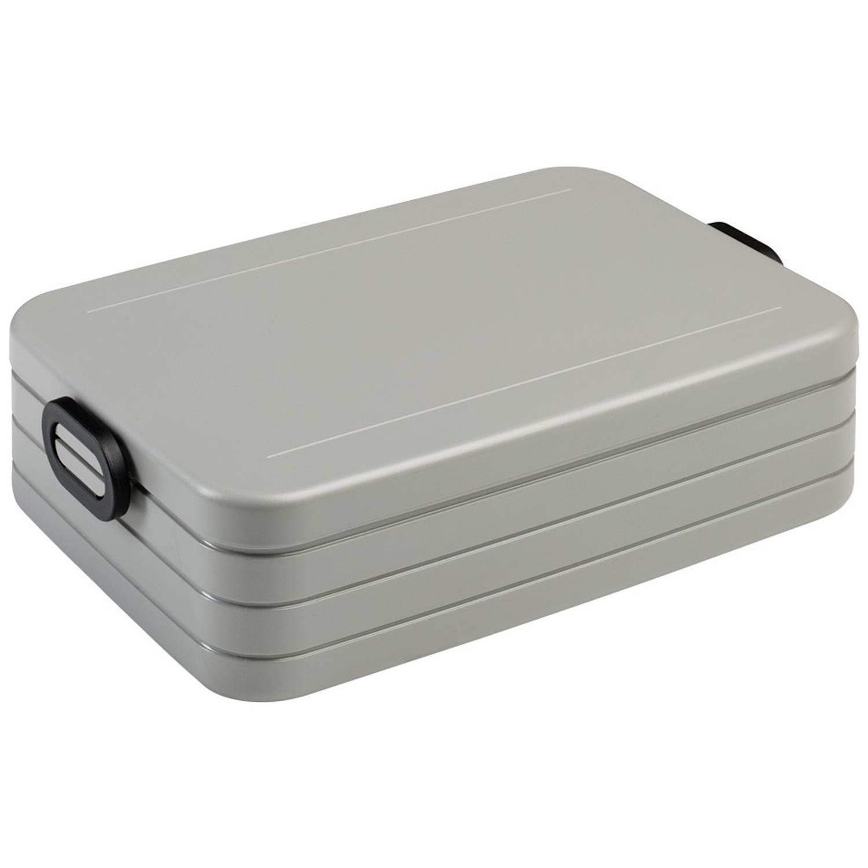 mepal to go lunchbox large zilver blokker. Black Bedroom Furniture Sets. Home Design Ideas