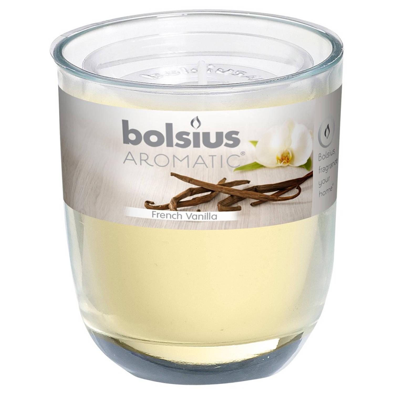 Bolsius geurkaars in glas - vanille