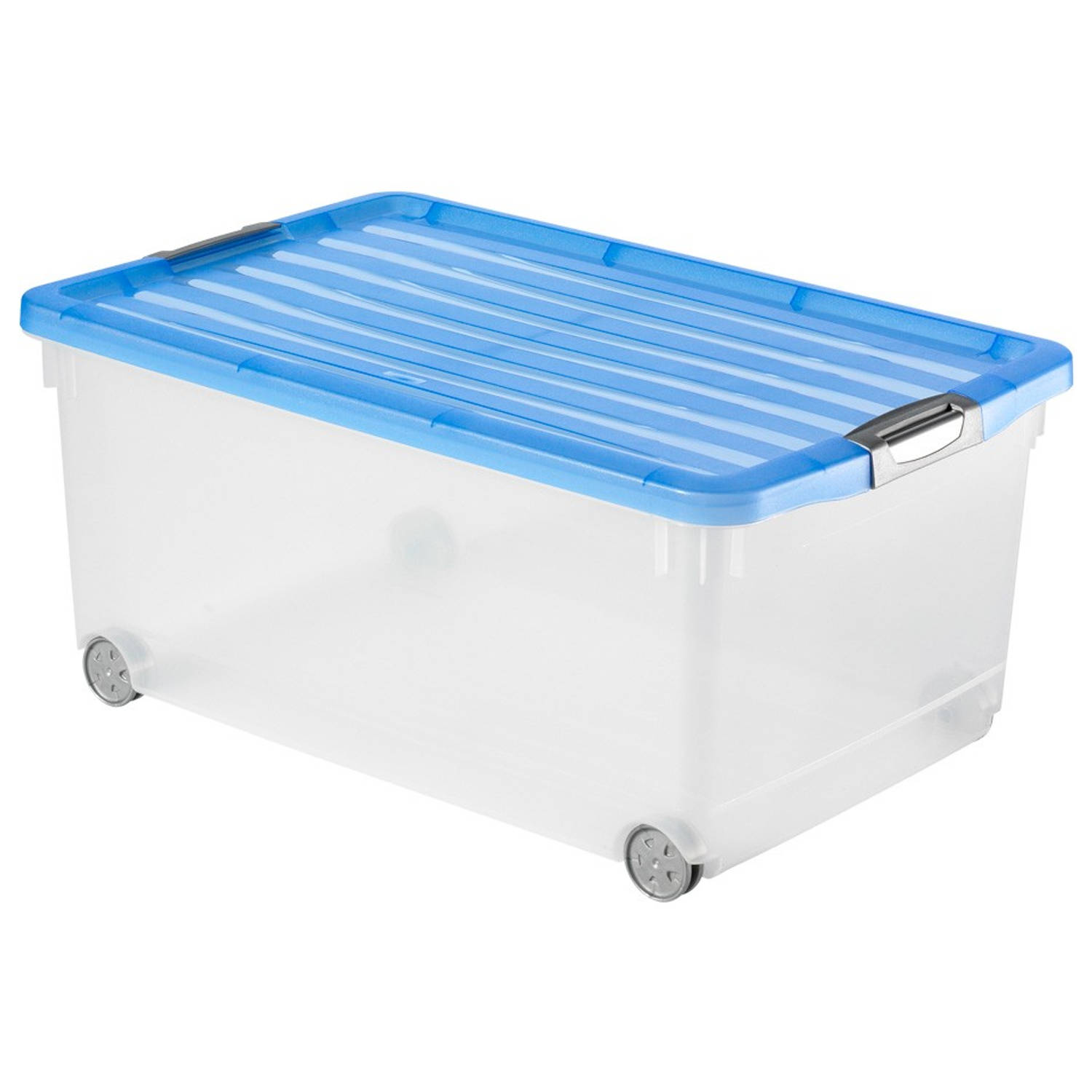 Curver Click'n Fit opbergbox 45 liter - blauw
