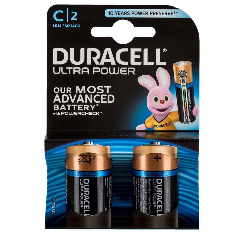 Duracell Ultra Power C alkaline batterijen - 2 stuks