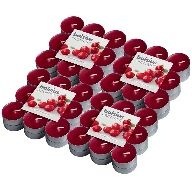 Bolsius Aromatische theelichtjes Wild Cranberry 72 st 103626949389