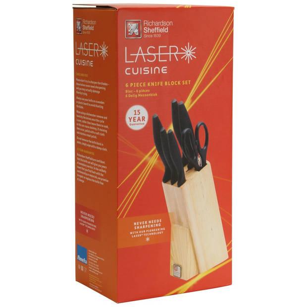 Richardson Sheffield Laser Cuisine messenblok 6-delig - hout