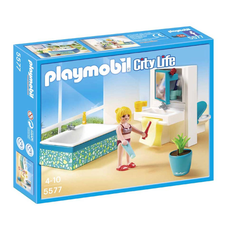 Playmobil badkamer met bad 5577   Blokker