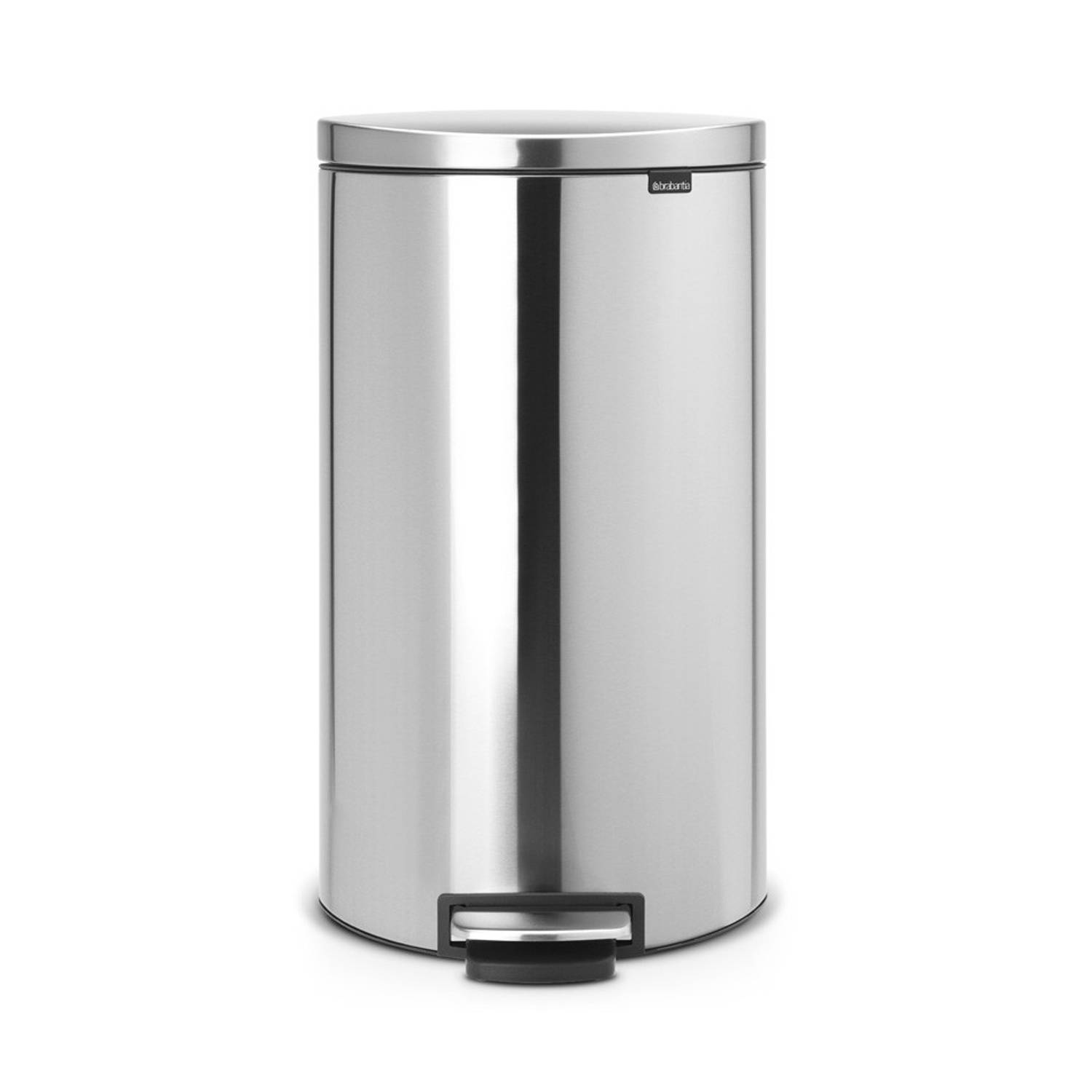 Brabantia FlatBack+ prullenbak - 30 L - Matt Steel Fingerprint Proof