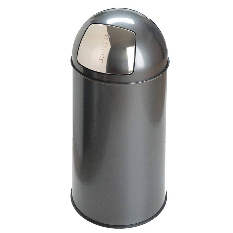 Pushcan 40 liter, Grijs