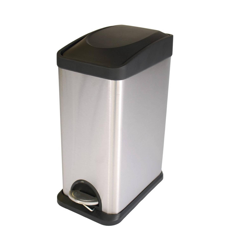 Brabantia Rechthoekige Pedaalemmer 25 Liter.Eko Rechthoekige Pedaalemmer 15 L Mat Rvs