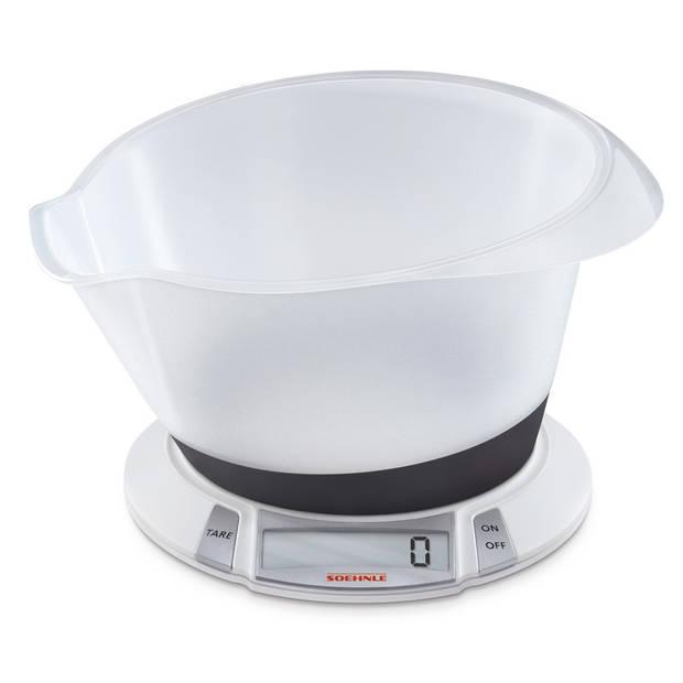 Soehnle Olympia Plus wit 66111 digitale keukenweegschaal