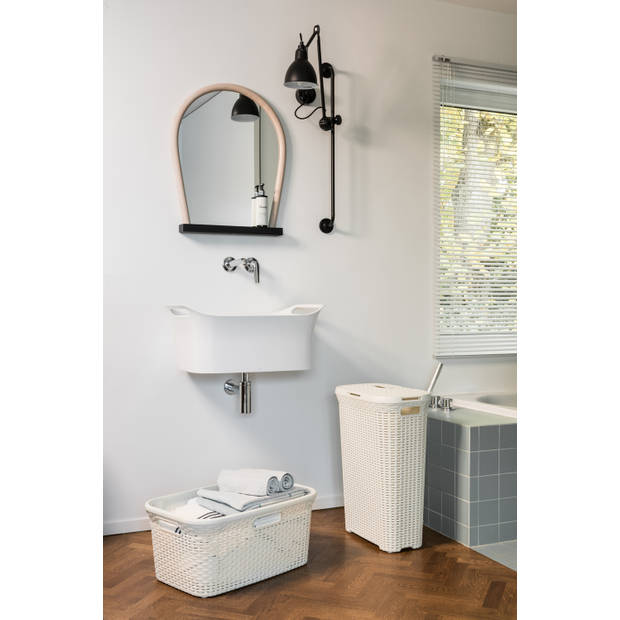 Curver style natural wasbox 40 liter wit
