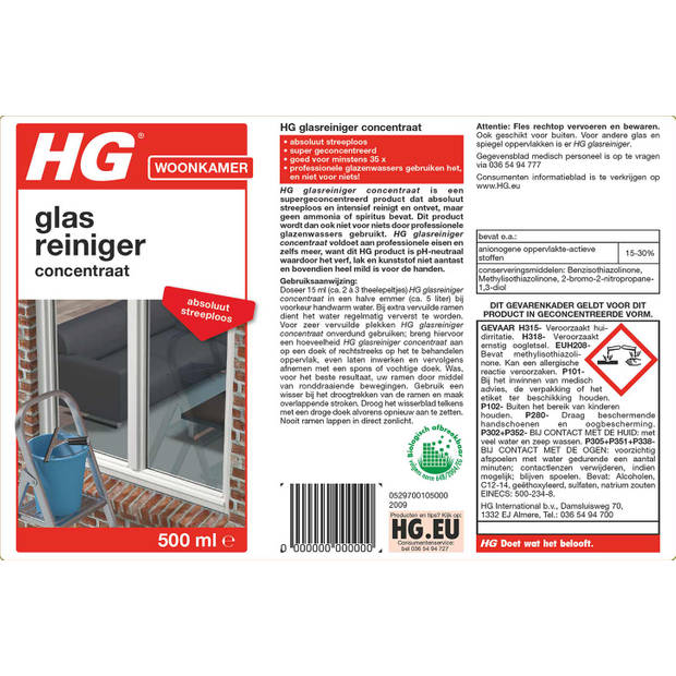 HG glazenwasser