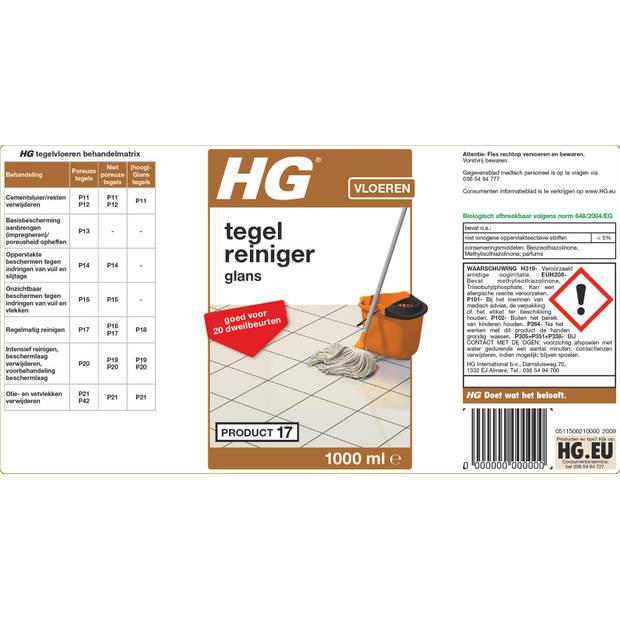 HG vloertegel 'glans' reiniger