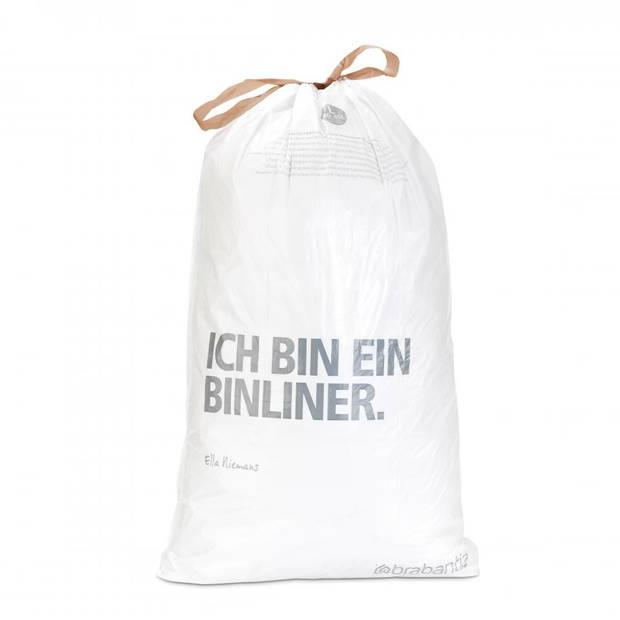 Brabantia PerfectFit afvalzak met trekbandsluiting code L, 40-45 liter, 10 stuks/rol - White