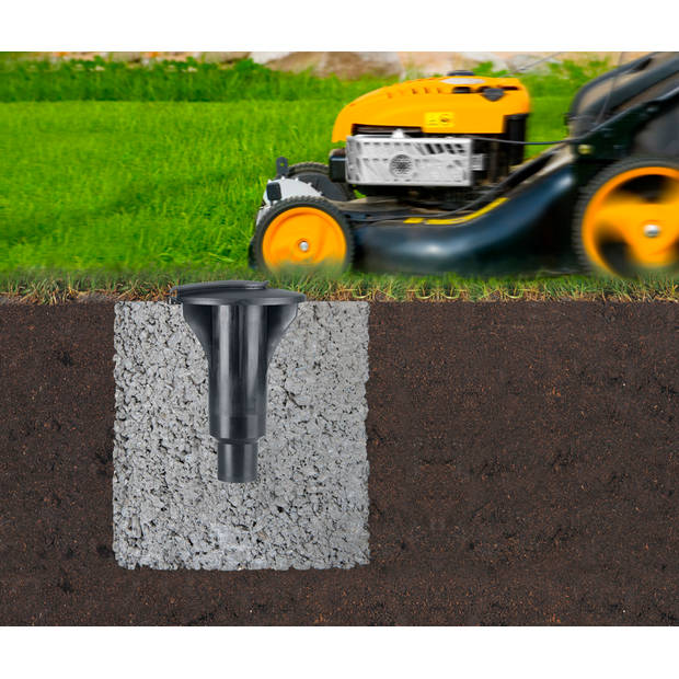 Brabantia Lift-o-Matic Advance droogmolen - 50 m - met kunststof betonanker, beschermhoes en wasknijpertasje
