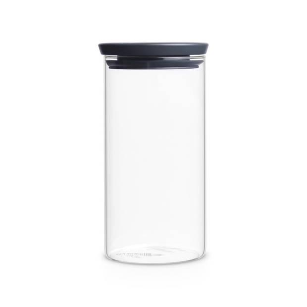 Brabantia stapelbare voorraadpot 1,1 liter - Glas