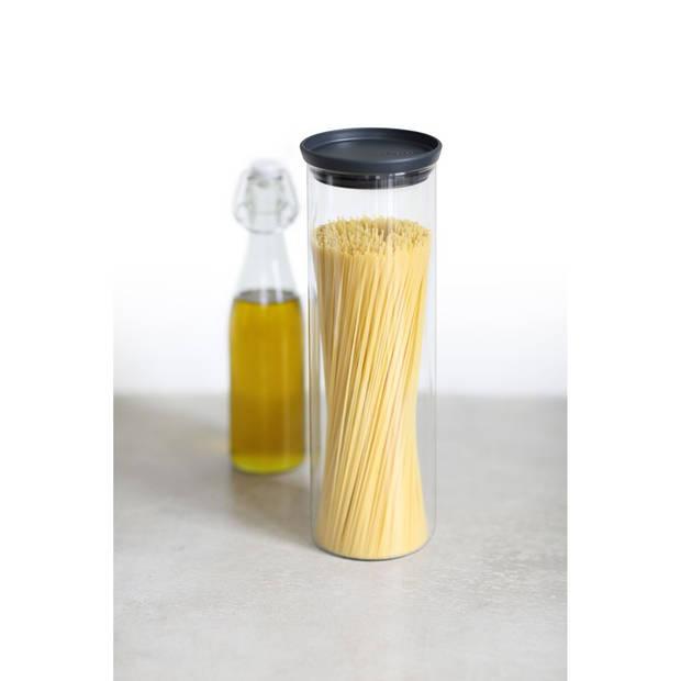Brabantia stapelbare voorraadpot 1,9 liter - Glas