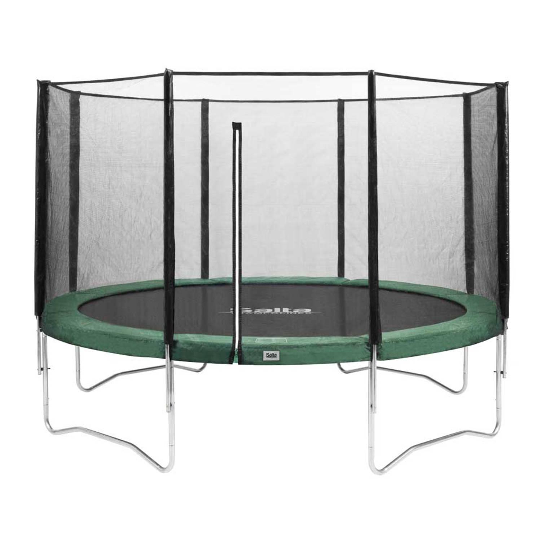 Salta Combo trampoline rond met veiligheidsnet 366 cm groen