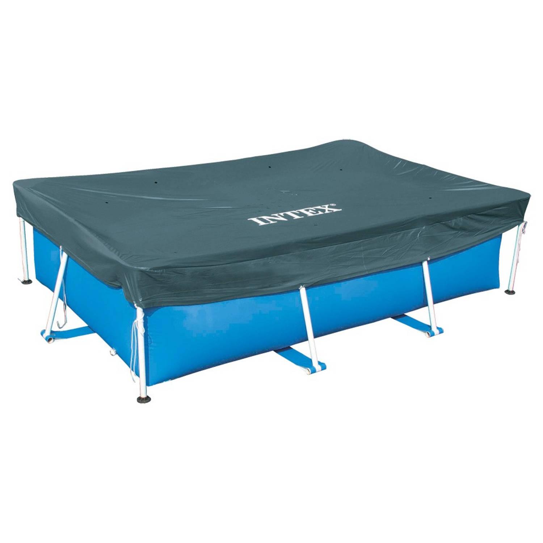 Intex afdekzeil voor frame pool zwembad rechthoekig 450 for Afdekzeil zwembad blokker
