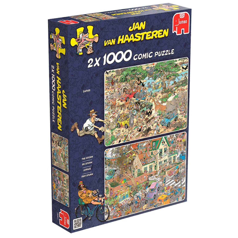 1000 Stuks Puzzel JVH Safari Storm 2 in 1