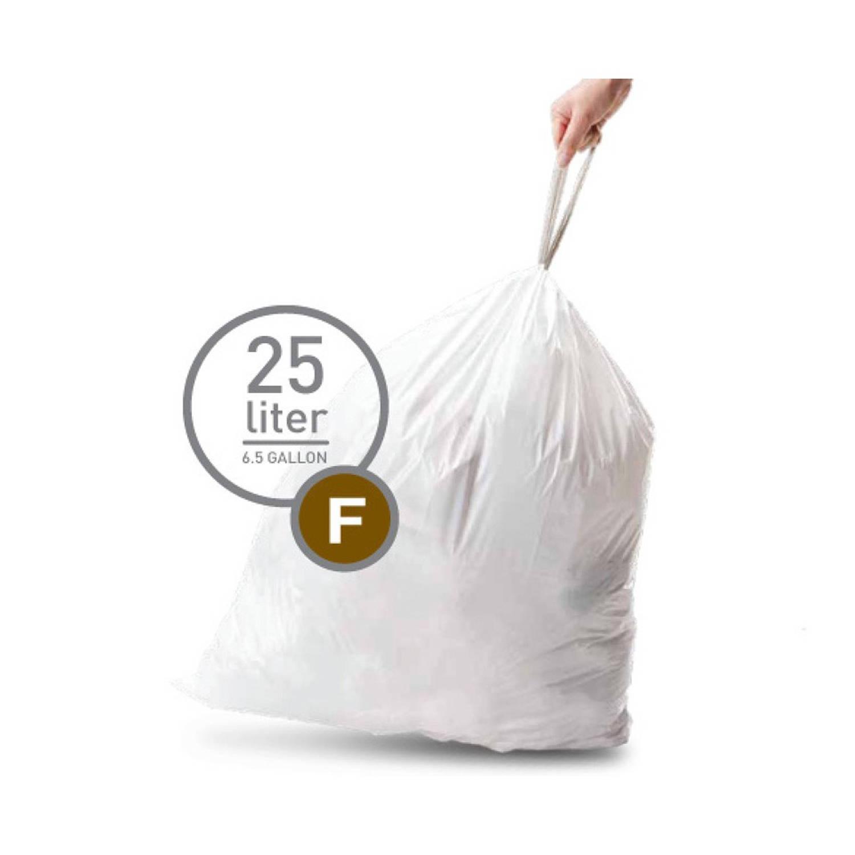 Simplehuman afvalzakken Code F voor 25 liter - 20 stuks