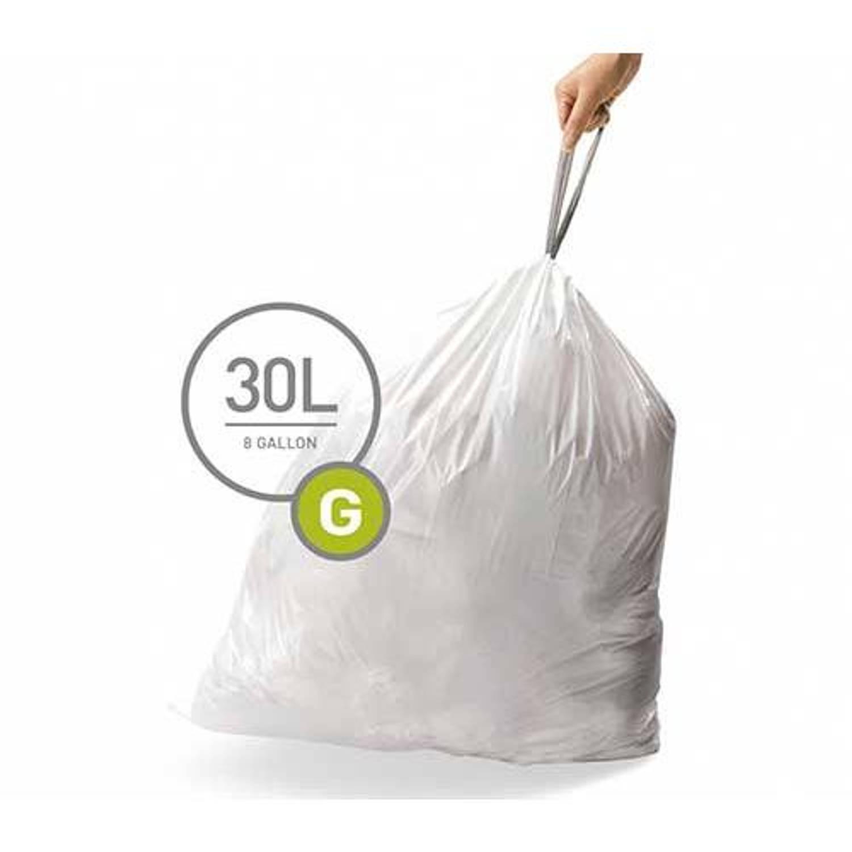 Simplehuman afvalzakken Code G voor 30 liter - 20 stuks