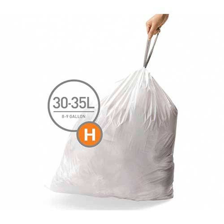 Simplehuman afvalzakken Code H voor 30-35 liter - 20 stuks