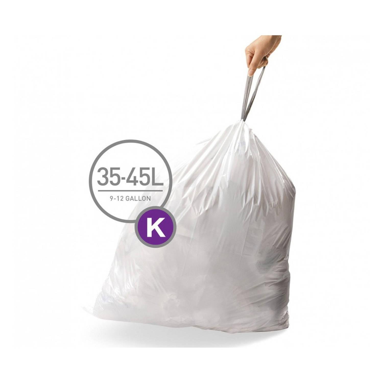Simplehuman afvalzakken Code K voor 38 liter - 20 stuks