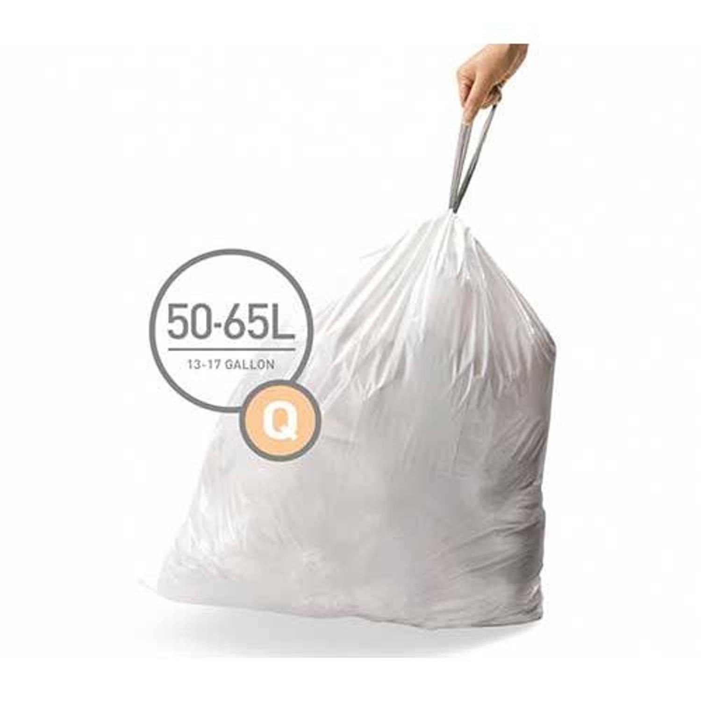 Simplehuman afvalzakken Code Q voor 50 liter - 20 stuks