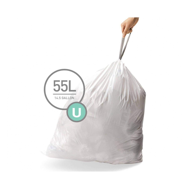 Simplehuman afvalzakken Code U voor 55 liter - 20 stuks