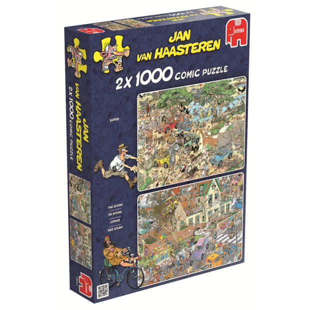 Jan van Haasteren puzzel safari & storm - 2 x 1000 stukjes
